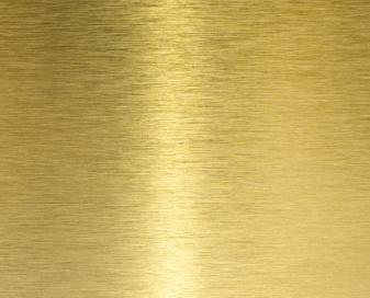 Латунный лист отличается приятным, почти золотистым, внешним видом