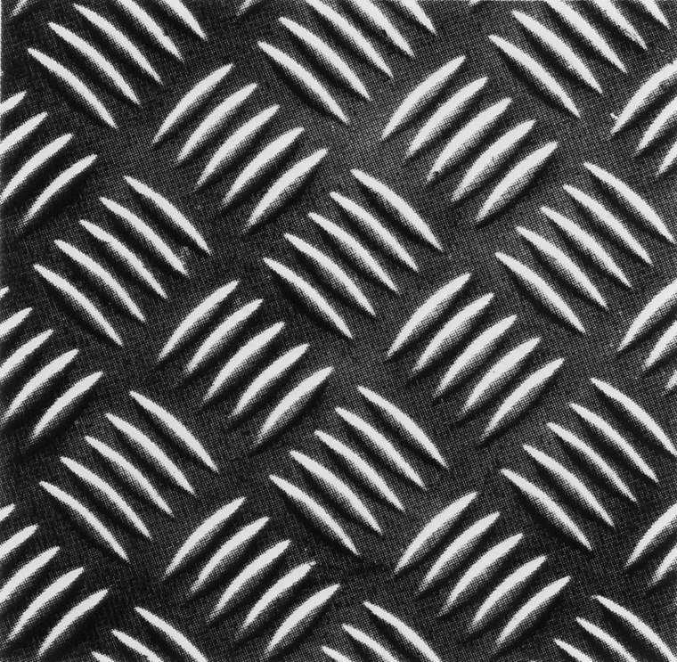 Рифленый лист - изделие со строго симметричным рисунком