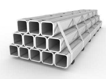 Алюминиевую квадратную трубу используют даже в оформлении интерьеров